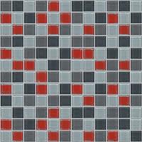mozaiky | skleněná mozaika | Crystal | MCRG 232060 – červeno-šedý mix